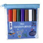 Mini-Kreidemarker Set mit dunklen Farben (blau)