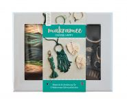 "Makramee-Schmuckset ""Choose Happy"" (Petrol/Natur)"