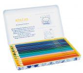 Azulejos Designdose mit 12 Premium-Buntstiften und 2 Schablonen Display, 8 Ex.