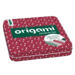 Origami Faltblätter mit Designdose (Weihnachten)