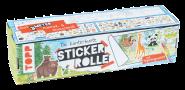 Kunterbunte Stickerrolle