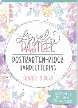 Lovely Pastell Handlettering Postkartenblock Flowers & Boho, VE= 3 Ex.