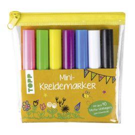 Mini-Kreidemarker Set in hellen Farben (gelb)