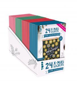 24 X-MAS SECRETS - Rubbel-Adventskalender Display 4x 5 Ex.