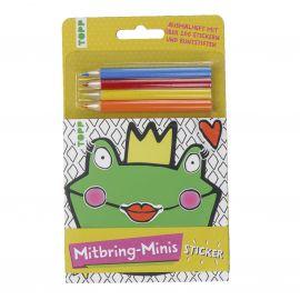 Mitbring-Minis Ausmalheft mit Stickern und Buntstiften, VE= 5 Ex.