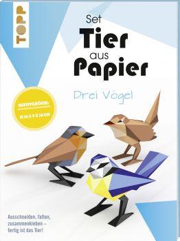 Tier aus Papier - drei Vögel (Bastel-Set)