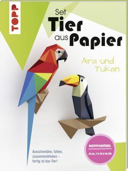 Tier aus Papier - Tukan & Ara (Bastel-Set)