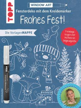 Vorlagenmappe Fensterdeko mit dem Kreidemarker - Frohes Fest! inkl. Original Kreidemarker von Kreul