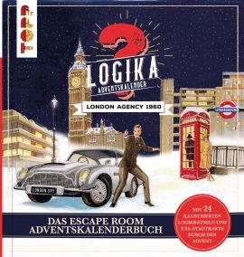 Logika Adventskalenderbuch – London Agency 1960: Mit 24 illustrierten Logikrätsel durch den Advent
