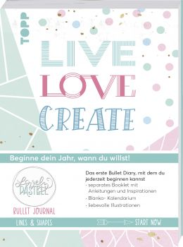 Bullet Journal Lovely Pastell Lines & Shapes  - Live, love, create