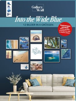 "Gallery Wall ""Into The Wide Blue"". 12 Bilder in 4 Größen"