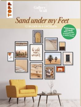 "Gallery Wall ""Sand Under My Feet"". 12 Bilder in 4 Größen"
