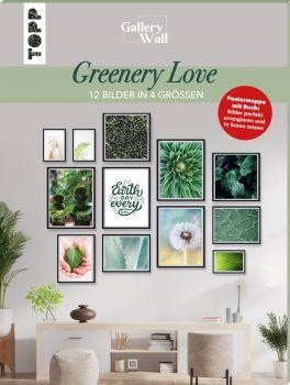 """Gallery Wall """"Greenery Love"""". 12 Bilder in 4 Größen"""