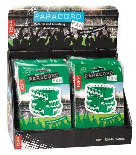 Paracord Fan Display grün-weiß, 10 Ex.