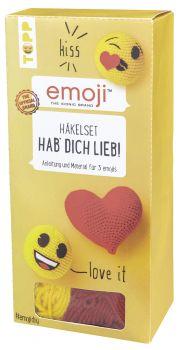 Emoji Häkelset Hab' dich lieb!, VE=4 Ex.
