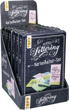 Handlettering Kartenhalter-Set Display, 6 Ex.