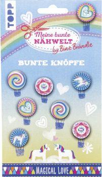 Bine Brändle Bunte Knöpfe Magical Love, VE= 3 Ex.