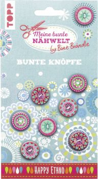 Bine Brändle Bunte Knöpfe Happy Ethno, VE= 3 Ex.