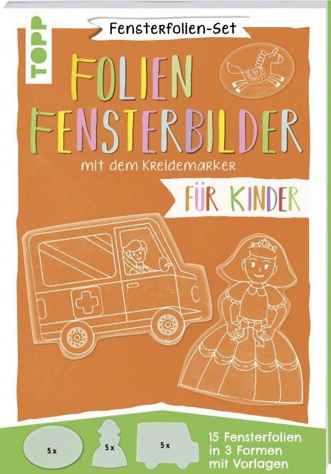 Fensterfolien-Set - Folien-Fensterbilder mit dem Kreidemarker - Für Kinder
