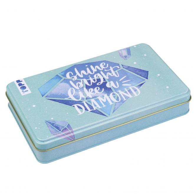 "Handlettering Designdose ""Shine bright like a diamond"" (Diamantenmotiv)"