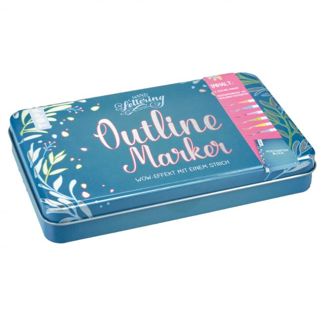 Outline Marker in hochwertigem Metall-Etui