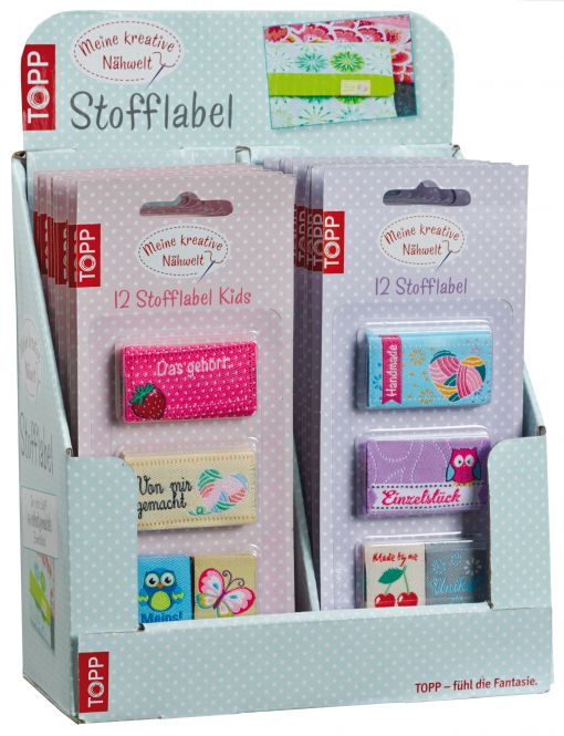 Stofflabel Display, 2x 10 Ex.