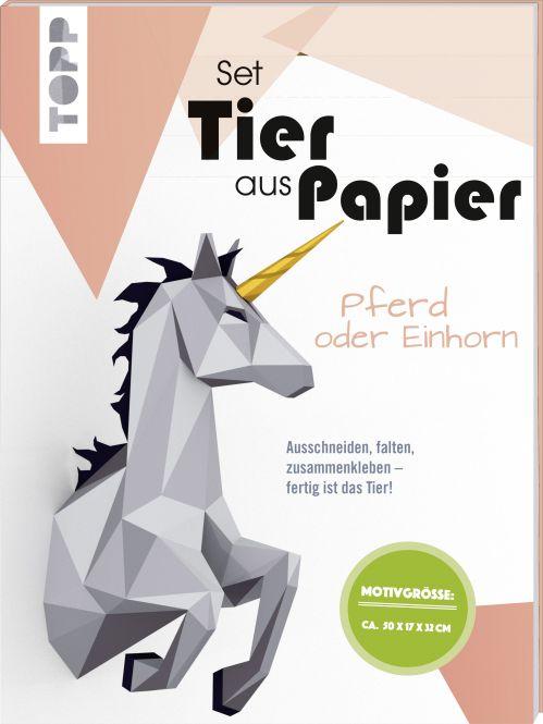 Tier aus Papier - Pferd oder Einhorn (Bastel-Set)