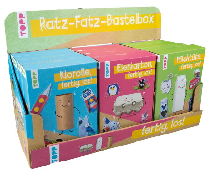 Ratz-Fatz-Bastelbox Display, 3x 4 Ex.