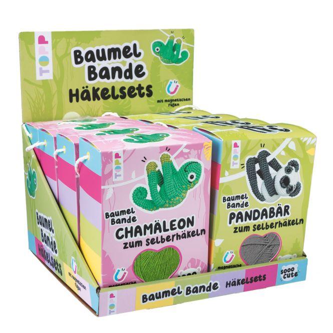 Sooo Cute Baumel-Bande Häkelsets Display, 2x4 Ex.