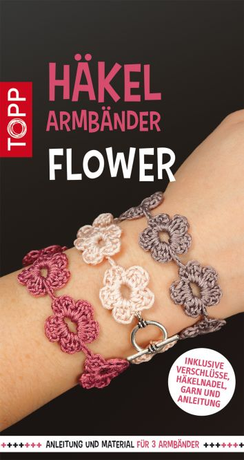 Häkelarmbänder Set Flower