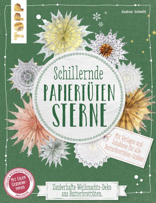 Schillernde Papiertüten-Sterne (kreativ.kompakt.)