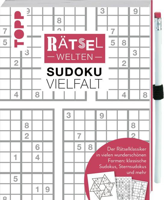 Rätselwelten – Sudoku Vielfalt | Der Rätselklassiker in vielen wunderschönen Formen: klassische Sudokus, Sternsudokus und mehr