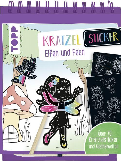 Kratzel-Stickerbuch Elfen und Feen