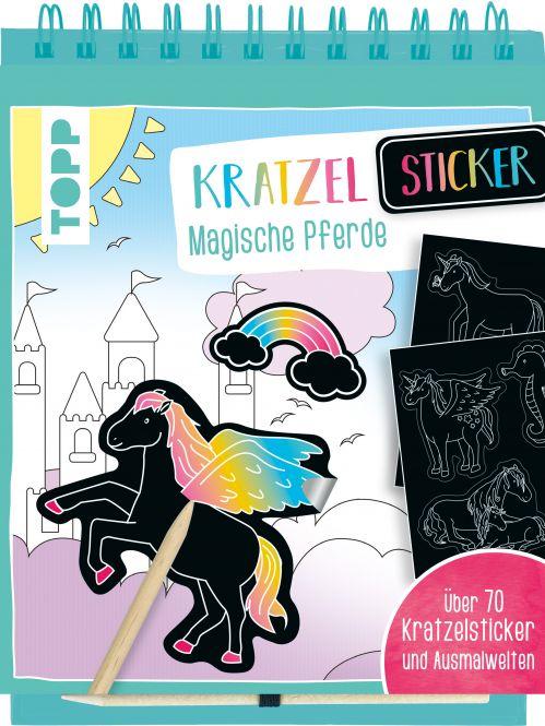 Kratzel-Stickerbuch Magische Pferde