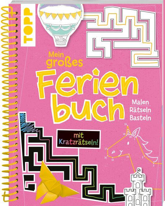 Mein großes Ferienbuch mit Kratzrätseln! (Pink)