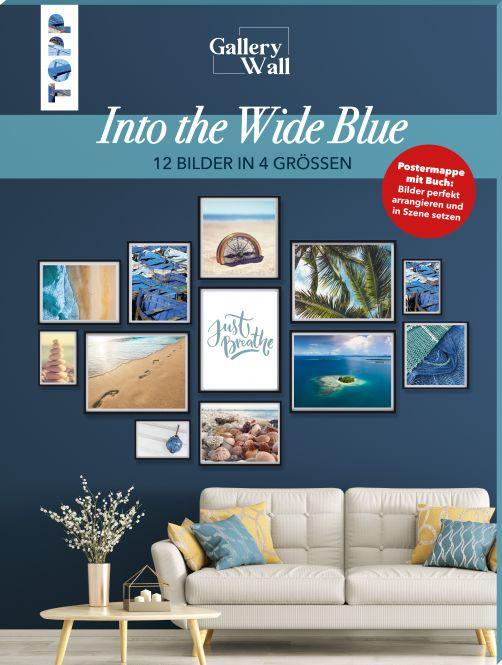"Gallery Wall ""Into The Wide Blue"". 12 Bilder in 4 Größen"