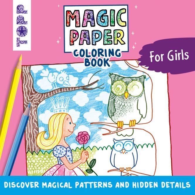 Magic Paper Coloring Book For Girls