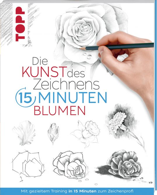 Die Kunst des Zeichnens 15 Minuten - Blumen