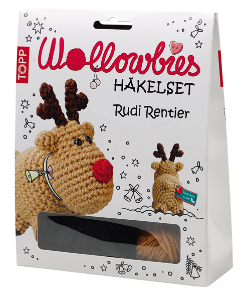 Wollowbies Häkelset Rudi Rentier, VE=4 Ex.
