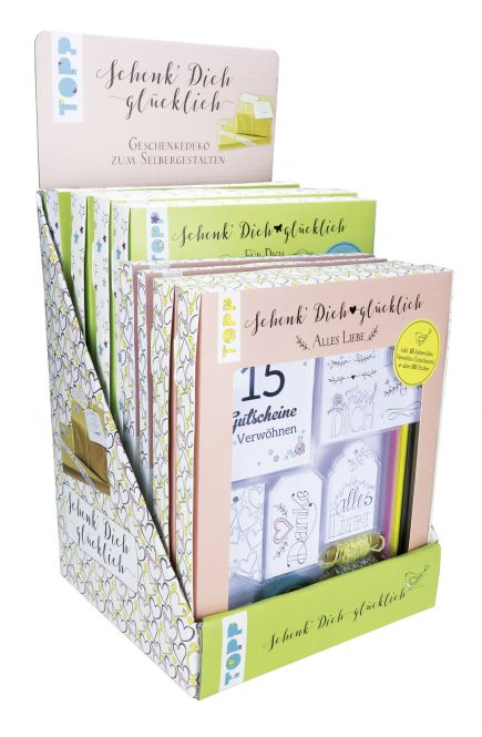 Schenk' Dich glücklich Geschenkedeko-Sets Display, 2x4 Ex.