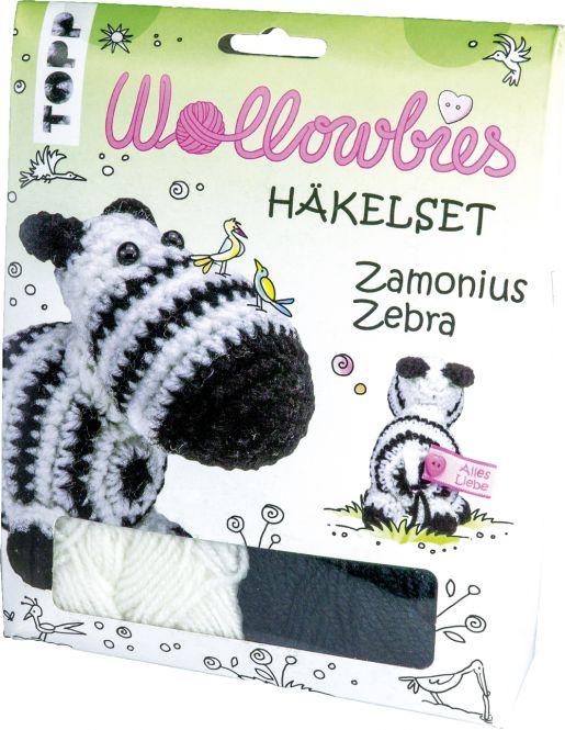Wollowbies Häkelset Zamonius Zebra, VE=4 Ex.