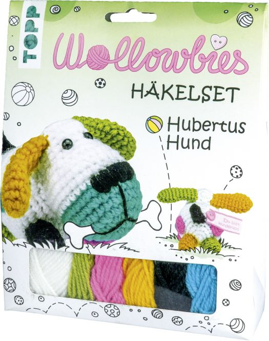 Wollowbies Häkelset Hubertus Hund, VE=4 Ex.