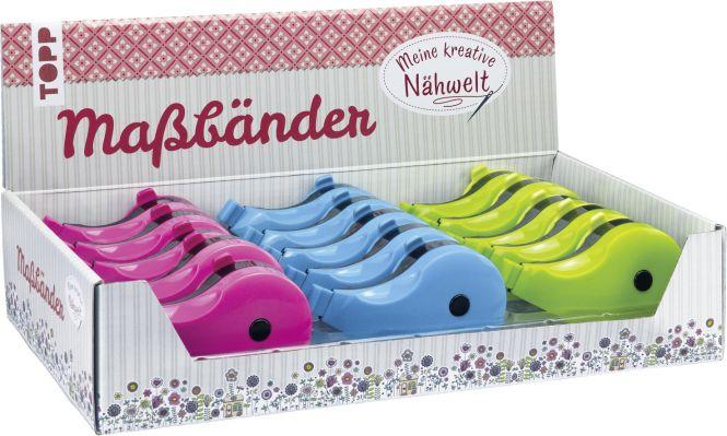Nähwelt Schneidermaßbänder Display, 3x 5 Ex.