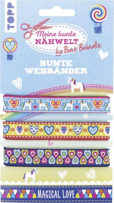 Bine Brändle Bunte Webbänder Magical Love, VE= 3 Ex.