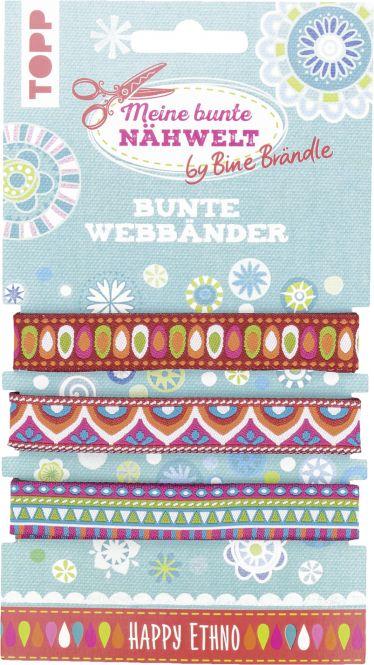 Bine Brändle Bunte Webbänder Happy Ethno, VE=3 Ex.